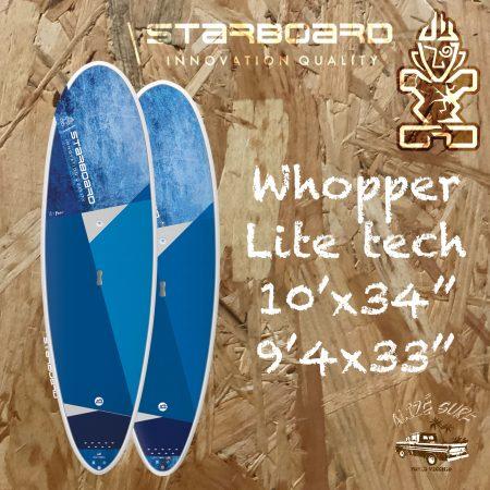 starboard whopper lite tech sup paddle rigide corse alize surf shop porto vecchio