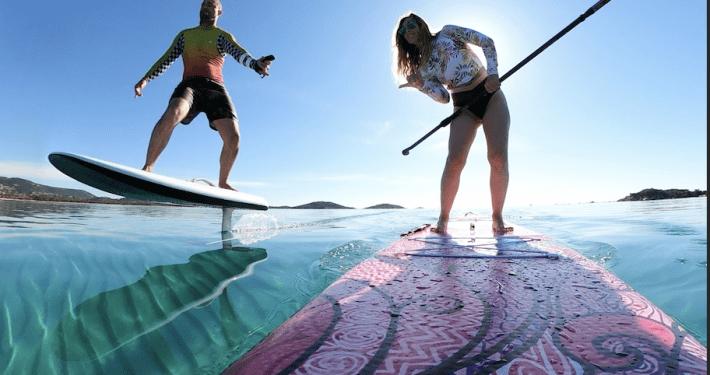 wing foil et paddle en corse a porto vecchio alize surf shop